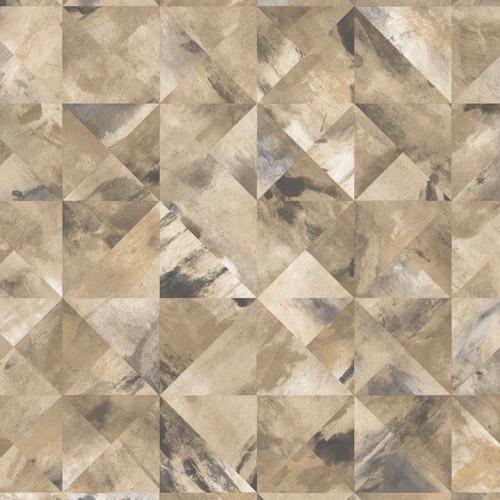 FW36821 Patton Wallcovering Norwall Fresh Watercolors Mosaic Wallpaper Ochre