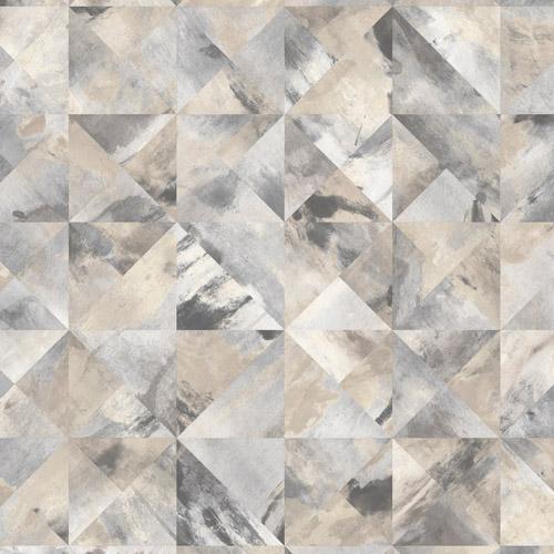 FW36822 Patton Wallcovering Norwall Fresh Watercolors Mosaic Wallpaper Black
