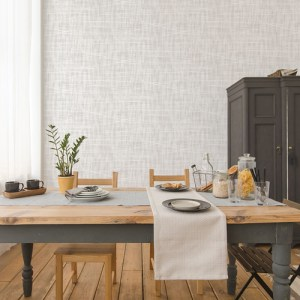 FW36852 Patton Wallcovering Norwall Fresh Watercolors Meander Wallpaper Grey Room Setting