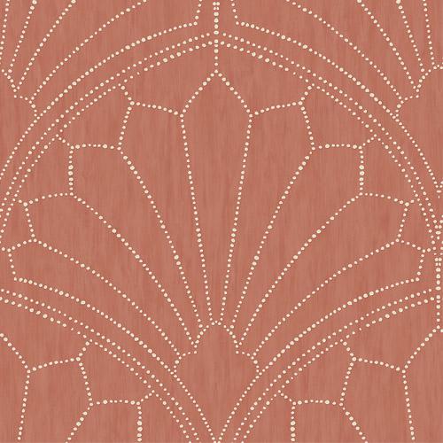 RY31501 Seabrook Wallcoverings Boho Rhapsody Scallop Wallpaper Red
