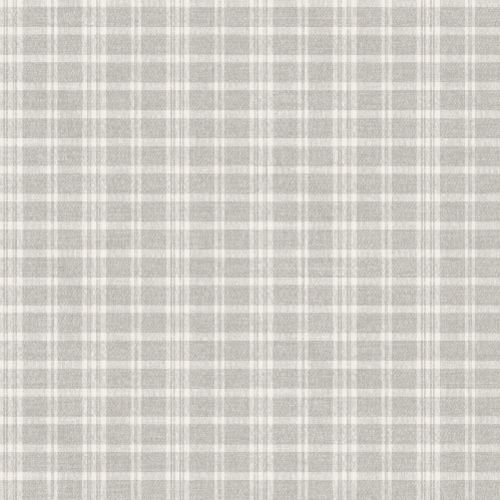 3119-02145 Brewster Wallcovering Chesapeake Kindred Tristan Prairie Gingham Wallpaper Light Grey