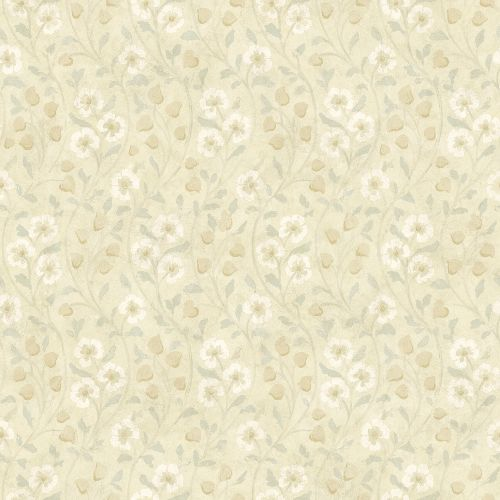 3119-13053 Brewster Wallcovering Chesapeake Kindred Patsy Floral Wallpaper Beige