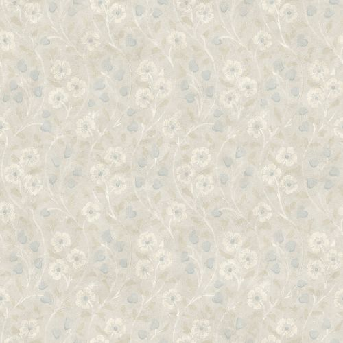 3119-13055 Brewster Wallcovering Chesapeake Kindred Patsy Floral Wallpaper Grey