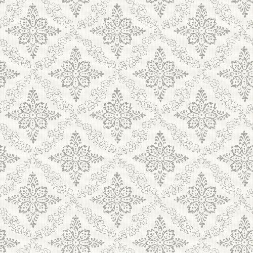 3119-13531 Brewster Wallcovering Cheseapeake Kindred Wynonna Geometric Floral Wallpaper Light Grey