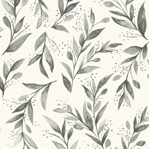 PSW1003RL Magnolia Olive Branch Grey Peel and Stick Wallpaper