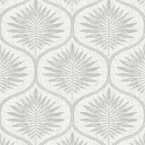 2861-25720 Brewster Wallcoverings A Street Prints Equinox Laurel Ogee Wallpaper Light Grey