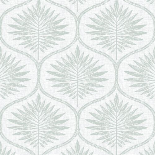 2861-25721 Brewster Wallcoverings A Street Prints Equinox Laurel Ogee Wallpaper Sage