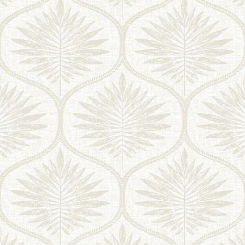 2861-25722 Brewster Wallcoverings A Street Prints Equinox Laurel Ogee Wallpaper Bone