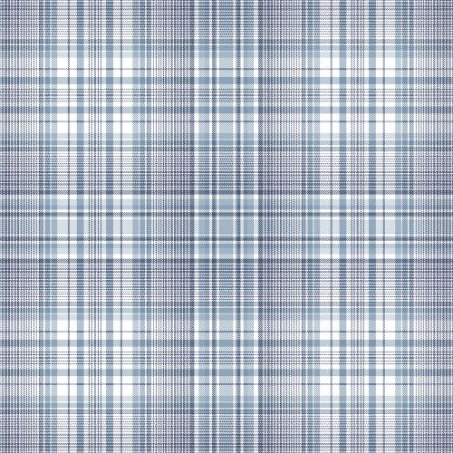 AF37718 Patton Wallcoverings Norwall Flourish Check Plaid Wallpaper Blue