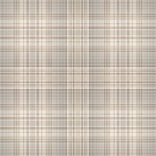 AF37721 Patton Wallcoverings Norwall Flourish Check Plaid Wallpaper Coffee