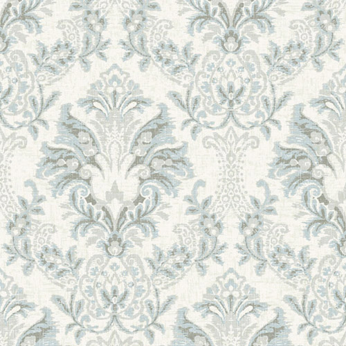 CL2502 York Wallcoverings Impressionist Bold Brocade Wallpaper Grey