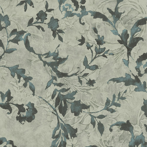 CL2534 York Wallcoverings Impressionist Vine Silhouette Wallpaper Green