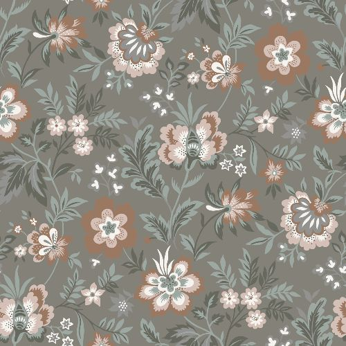 2948-28002 Brewster Wallcoverings A Street Prints Athena Floral Wallpaper Grey