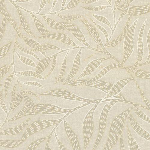 391552 Brewster Wallcoverings Eijffinger Terra Montrose Leaves Wallpaper Beige