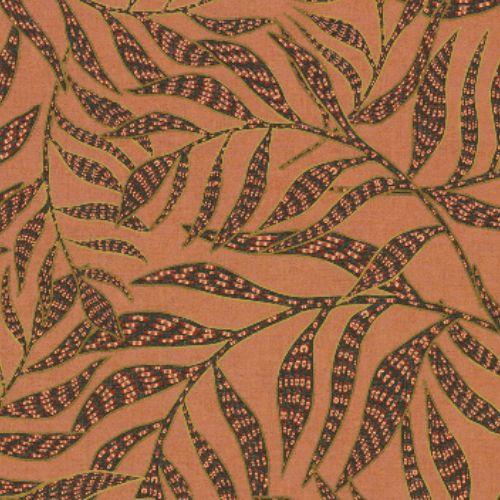 391554 Brewster Wallcoverings Eijffinger Terra Montrose Leaves Wallpaper Coral