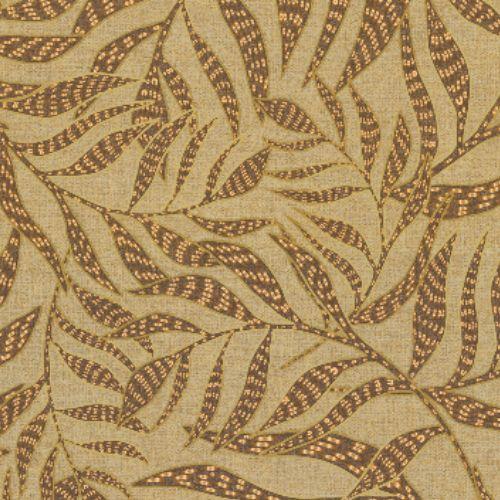 391555 Brewster Wallcoverings Eijffinger Terra Montrose Leaves Wallpaper Coffee