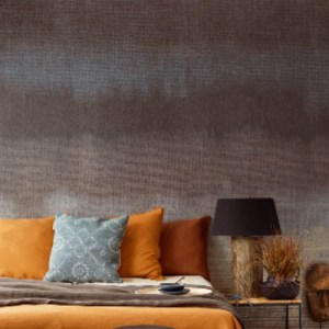 391560 Brewster Wallcoverings Eijffinger Terra Bedroom Wall Mural Earth Room Setting Closeup