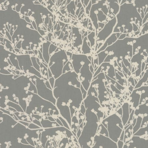 HC7518 York Wallcoverings Ronald Redding Handcrafted Naturals Budding Branch Silhouette Wallpaper Brown