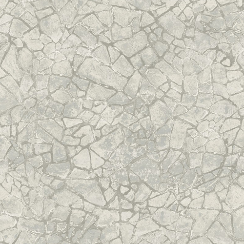 MW30208 Seabrook Wallcoveirngs Metalworks Starkweather Stone Wallpaper Greige