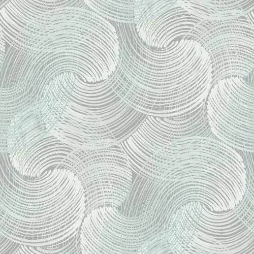2964-25909 Brewster Wallcoverings A Street Prints Scott Living Karson Swirling Geometric Wallpaper Teal