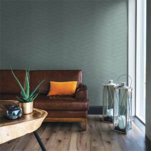 2964-25916 Brewster Wallcoverings A Street Prints Scott Living Aspen Chevron Wallpaper Aqua Room Setting