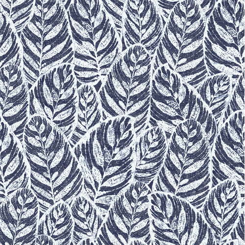 2964-25921 Brewster Wallcoverings A Street Prints Scott Living Del Mar Botanical Wallpaper Indigo