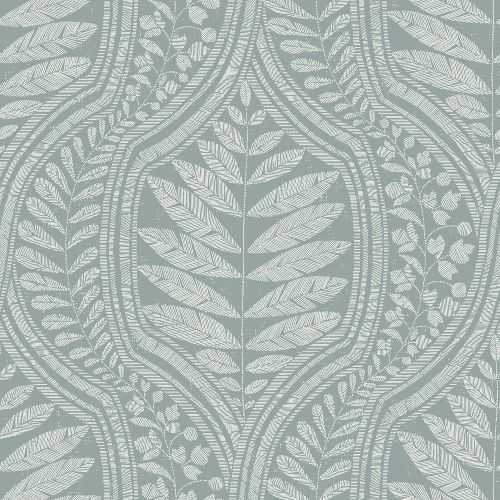 2964-25950 Brewster Wallcoverings A Street Prints Scott Living Juno Ogee Wallpaper Teal