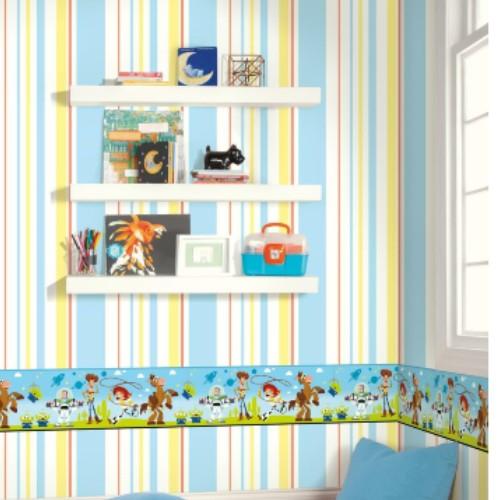 DI1018BD York Wallcoverings Disney Kids 4 Disney Pixar and Toy Story 4 Border Green Room Setting