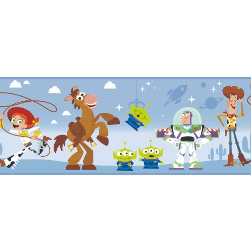 DI1019BD York Wallcoverings Disney Kids 4 Disney Pixar and Toy Story 4 Border Blue