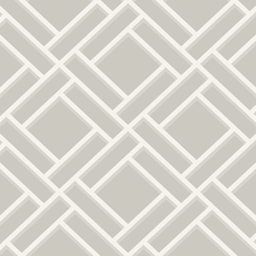 LN11508 Seabrook Wallcoverings Lillian August Luxe Retreat Block Lattice Wallpaper Cove Grey