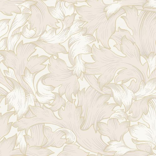 NV5508 York Wallcoverings Modern Heritage: Designed to Inspire 125th Anniversary Edition Acanthus Toss Wallpaper Cream
