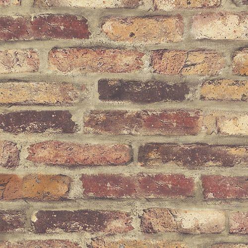 Faux Rustic Brick Peel and Stick Wallpaper - Lelands Wallpaper