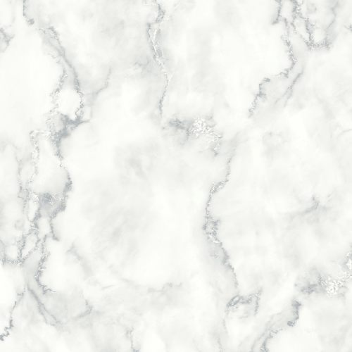NW30400 Seabrook Wallcoverings NextWall Faux Marble Peel and Stick Wallpaper White