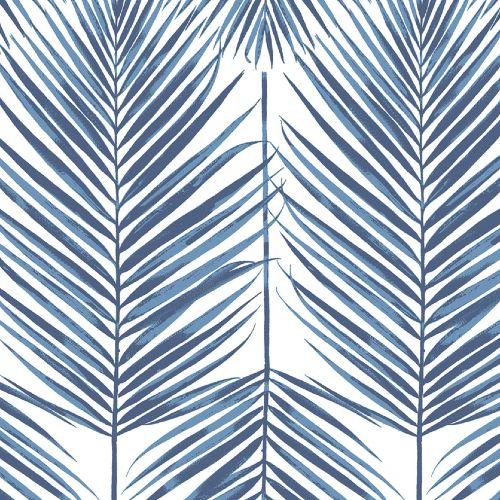 NW33002 Seabrook Wallcoverings NextWall Paradise Palm Peel and Stick Wallpaper Blue