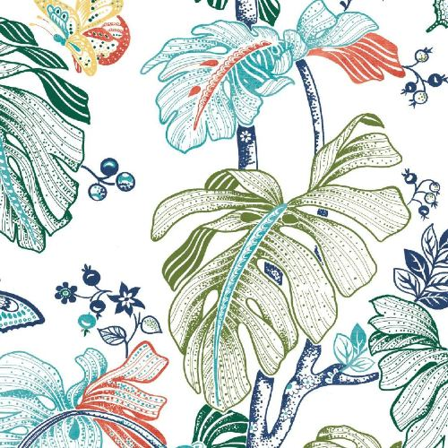 RMK11587RL York Wallcoverings RoomMates Boho Palm Peel and Stick Wallpaper Orange