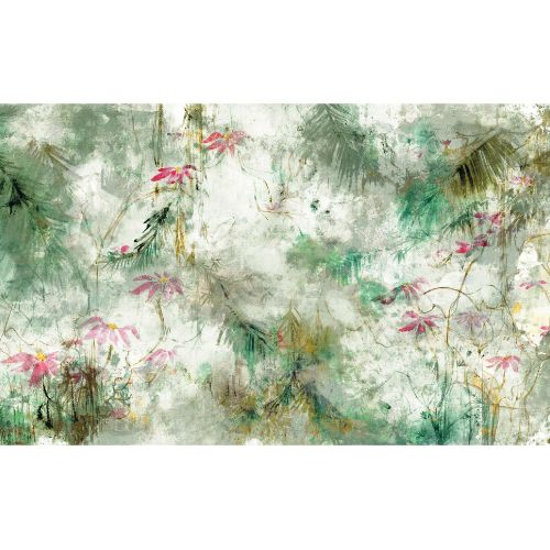 RMK11588M York Wallcoverings RoomMates Jungle Lily Peel and Stick Mural Green