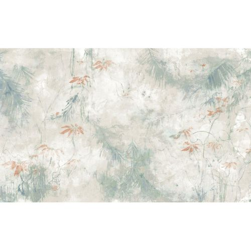 RMK11589M York Wallcoverings RoomMates Jungle Lily Peel and Stick Mural Grey