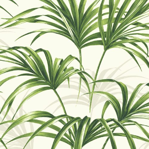 NW32504 NW32504 Seabrook Wallcoverings NextWall Tropical Palm Leaf Peel and Stick Wallpaper Green