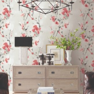 PSW1100RL York Wallcoverings Simply Candice Charm Peel and Stick Wallpaper Red Room Setting