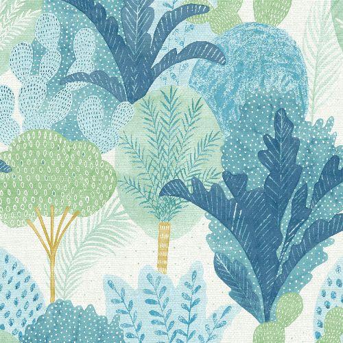 2969-26045 Brewster Wallcoverings A Street Prints Pacifica Ari Desert Oasis Wallpaper Teal