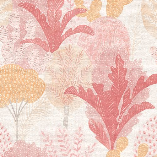 2969-26046 Brewster Wallcoverings A Street Prints Pacifica Ari Desert Oasis Wallpaper Pink