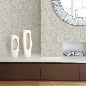 2949-60208 Brewster Wallcoverings A Street Prints Imprint Malawi Leather Texture Wallpaper Light Grey Room Setting