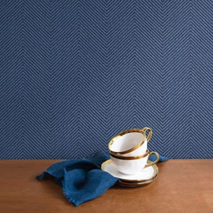 TC70412 Seabrook Wallcoverings More Textures Cafe Wallpaper Storm Room Setting