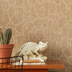 300533 Kordofan Giraffe Wallpaper Gold Room Setting