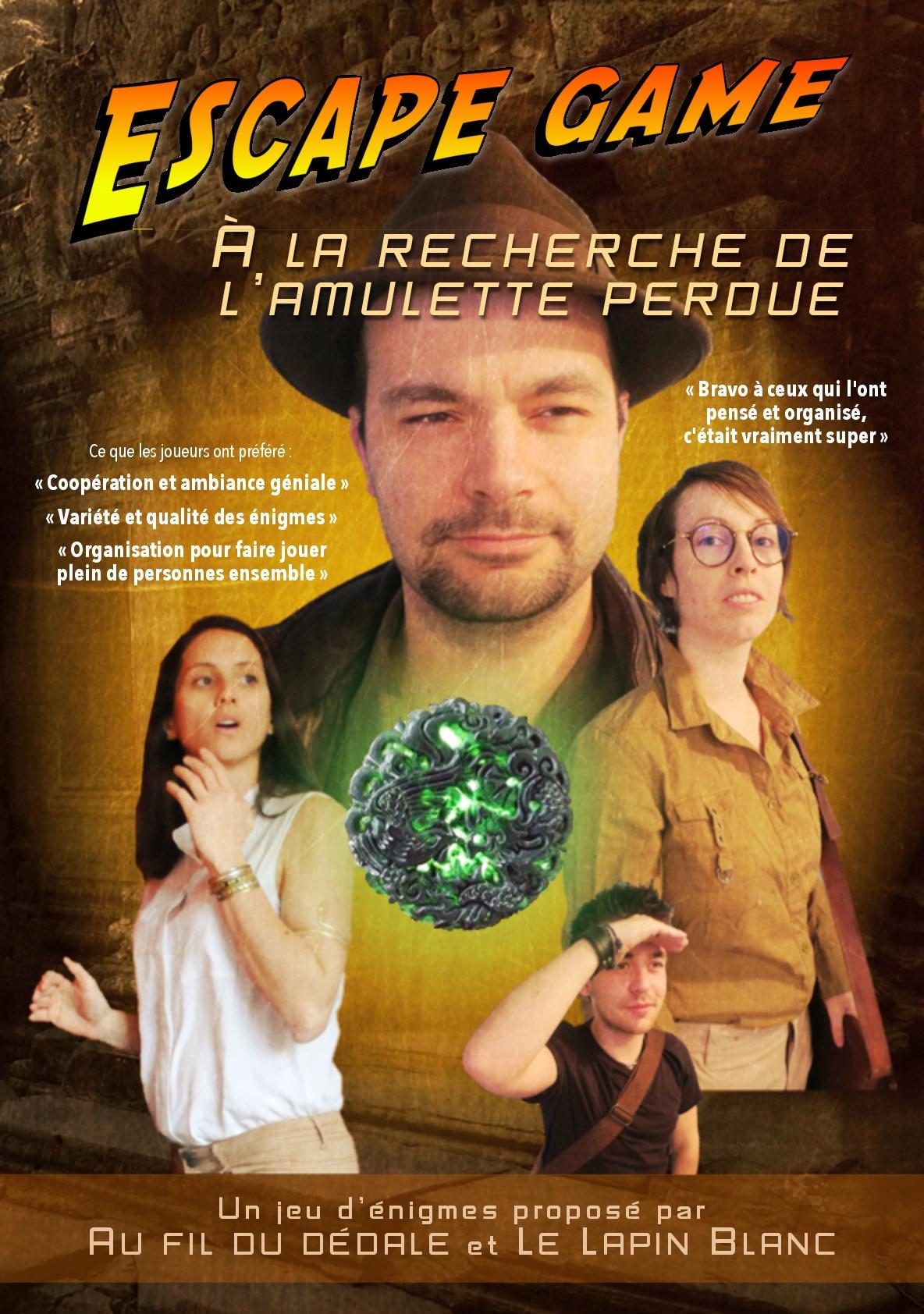 """Escape game géant """"A la recherche de l'amulette perdue"""" - Le Lapin Blanc & Au fil du dédale"""