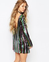 asos honey punch backless sequin top