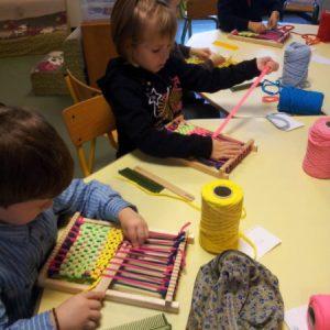 Animation tissage dans le cadre des TAP dans des écoles maternelles et élémentaires