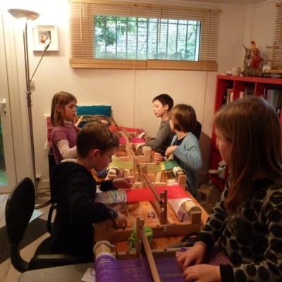 atelier tissage  enfant à l'atelier à Rennes