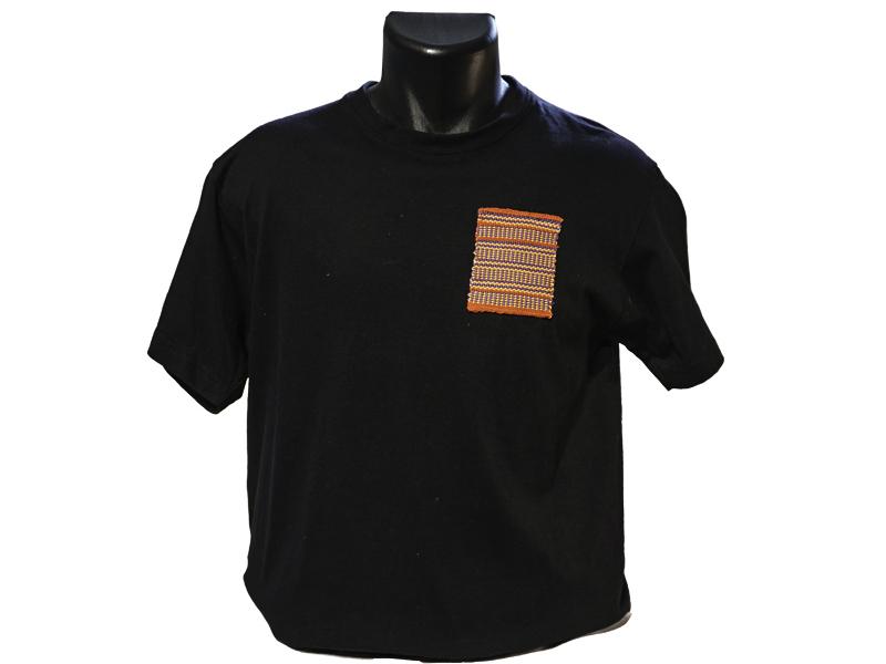 T shirt homme coton bio avec tissage main