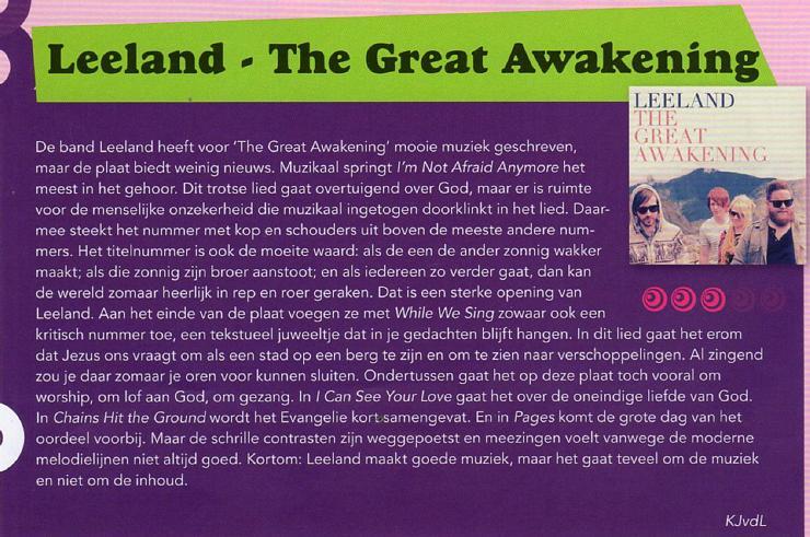 Leeland - The Great Awakening - Recensie PluggedIn